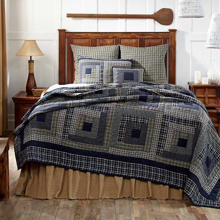Columbus Quilt - VHC Brands - BlackMountainQuilts.net ... : blue quilts bedding - Adamdwight.com