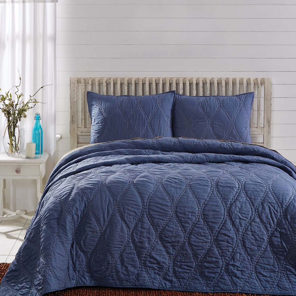 Harbour Navy Quilt Vhc Brands Blackmountainquilts Net