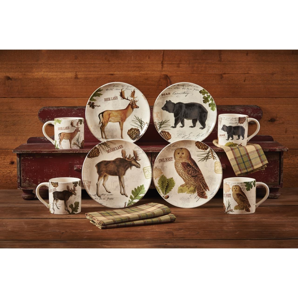 Zoom. # # # # # # #  sc 1 st  Black Mountain Quilts & Wildlife Trail Dinnerware - Park Designs - BlackMountainQuilts.net ...