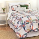 Heritage Wedding Ring Quilt Set by C & F