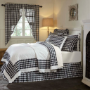 Annie Buffalo Check Black Quilt