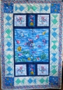 Rainbow Fish Baby Quilt with Book Pillow