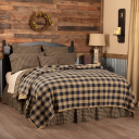 Black Check Coverlet
