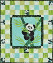 Pandas All Around Baby Quilt