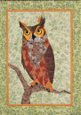 Great Horned Owl with Light Border Wall Hanging